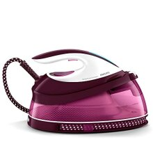 Philips PerfectCare Compact Steam Generator Iron with 400 g Steam Boost, 2400 W, Burgundy and White - GC7842/46