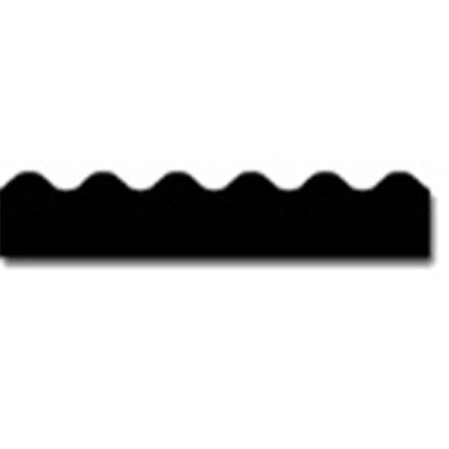 BORDER BLACK-SCALLOPED
