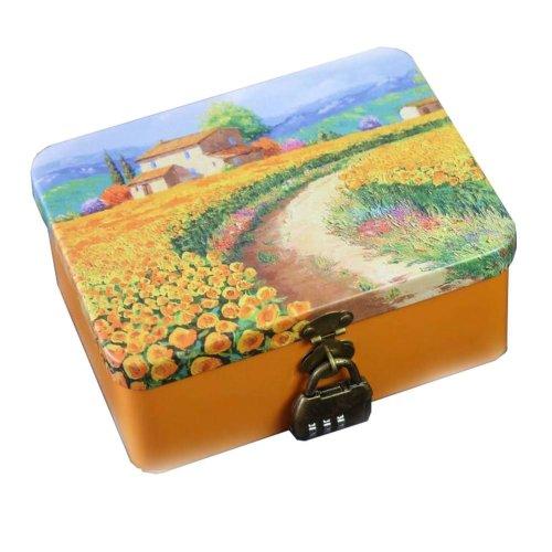 European Style Tin Box Tinplate Gift Box With Lock #2