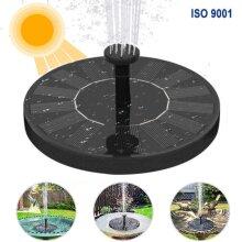 16cm Solar Bird Bath Fountain Pump with 4 Nozzles Garden Decoration