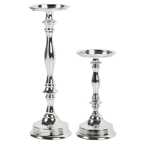 Silver Candlestick Pillar| Metal Candlestick Holder
