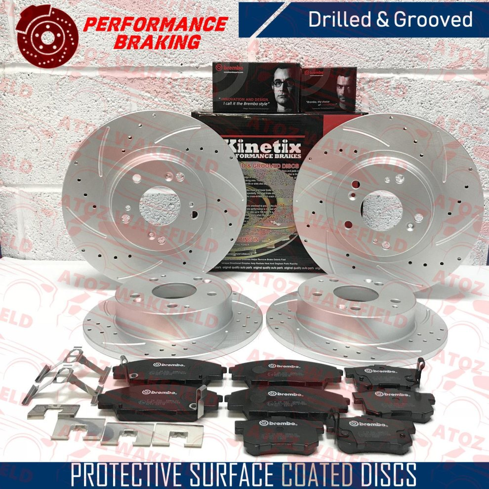 DISC PADS KIT FOR HONDA CIVIC 2.2 TD CDTi 2006-/> NEW REAR BRAKE DISCS SET