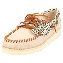 Sebago Keuka Wild Womens Boat Shoes in Cheetah Beige