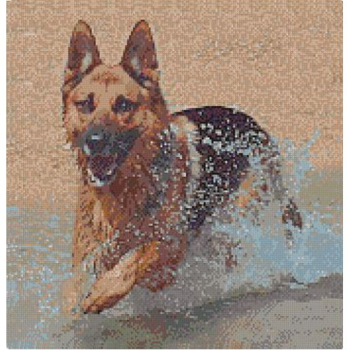 Alsatian German Shepherd Cross Stitch Kit