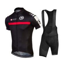 Black Mens Cycling Jersey Short Sleeve Summer Tops