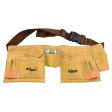 Heavy Duty 10 Pocket Professional Leather Work Tool Belt Pouch