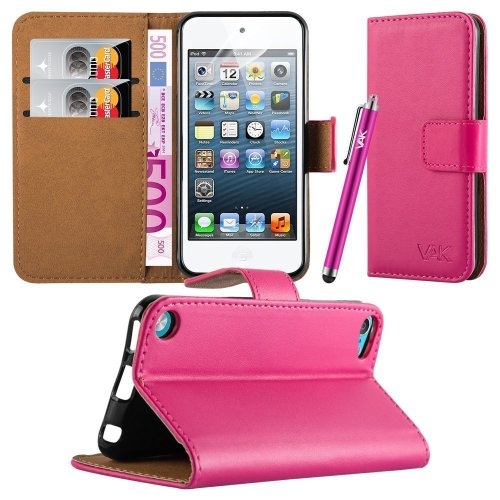 For iPod Touch 5th & 6th Gen. Wallet Leather Case
