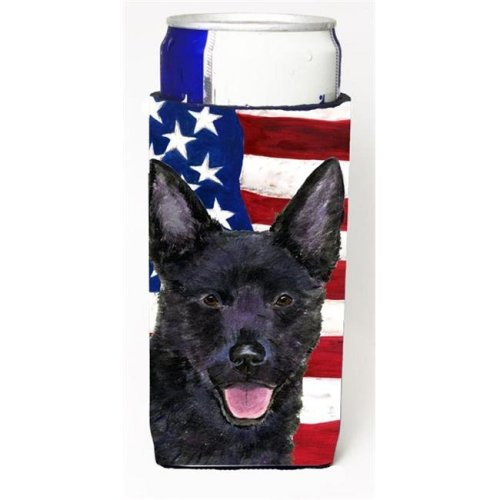Usa American Flag With Australian Kelpie Michelob Ultra s For Slim Cans - 12 oz.