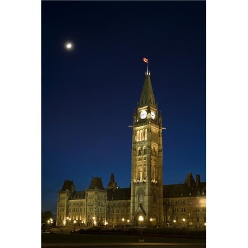 Peace Tower Parliament Building Ottawa Ontario Canada Poster Print by David Chapman, 12 x 18