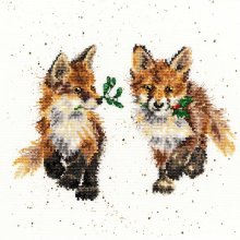 Bothy Threads counted cross stitch kit - Glad Tidings--fox cubs - 14 count speckled aida