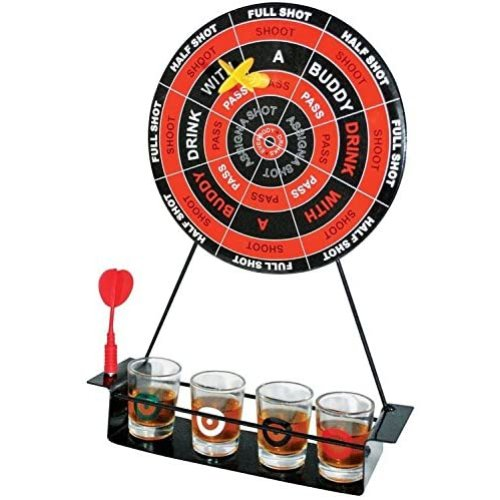 DARTS PARTY DRINKING GAME WITH SHOT GLASSES MAGNECTIC PARTY GAME SET