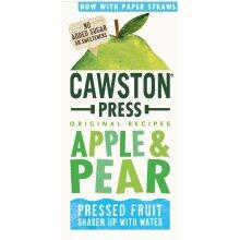 Cawston Press Apple & Pear Fruit Water - 18x200ml