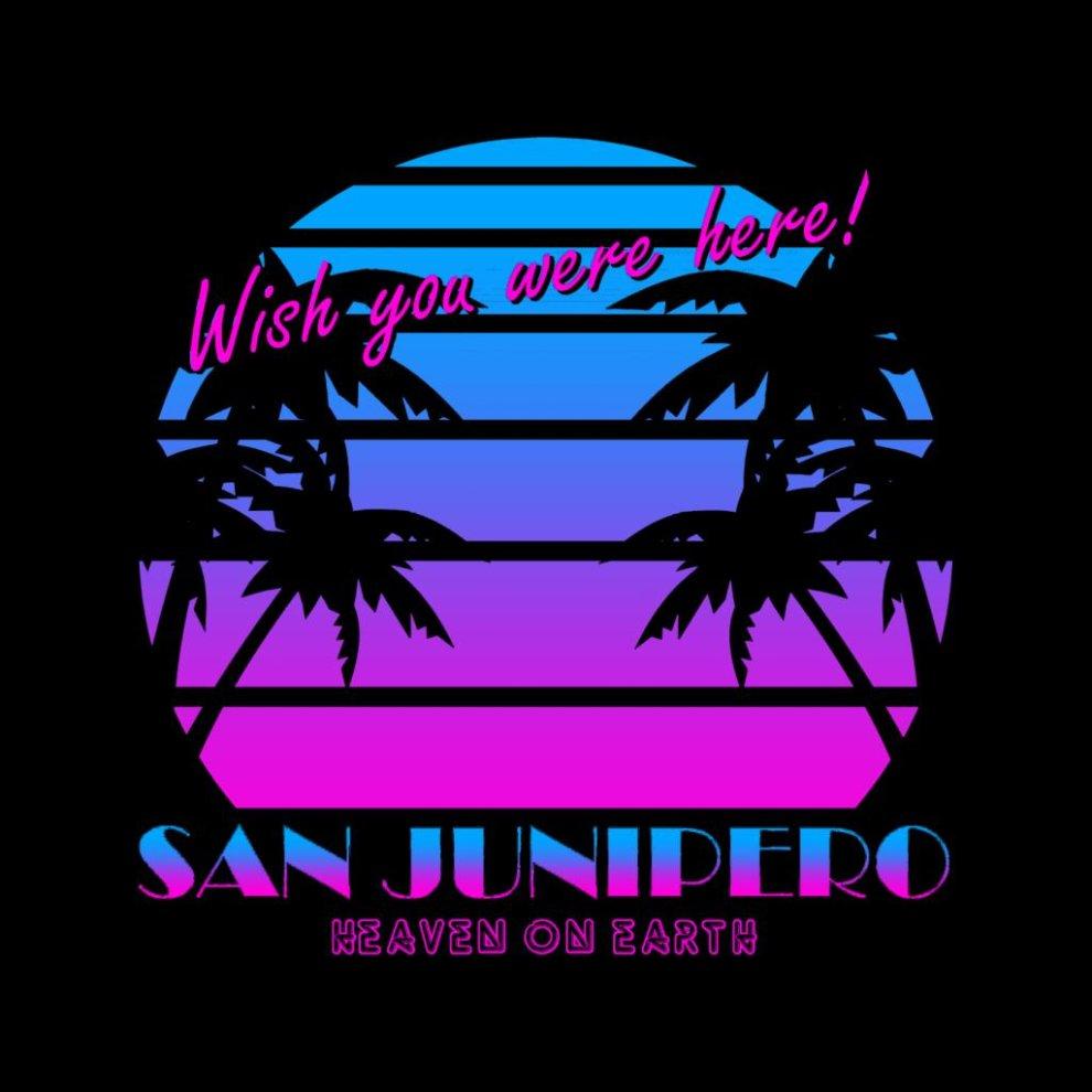 Cloud City 7 Black Mirror San Junipero Wish You Were Here 80s Womens Vest