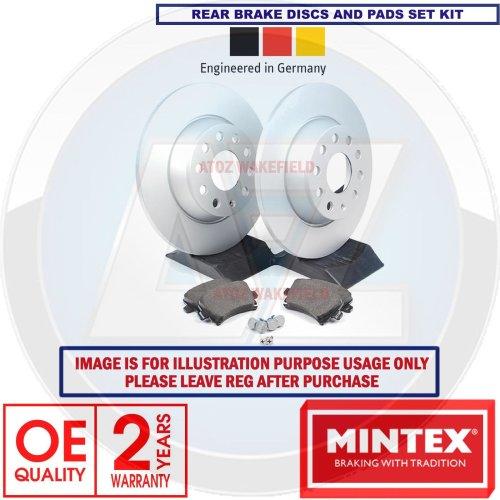 For NISSAN QASHQAI 2007-2012 MINTEX REAR SOLID BRAKE DISCS BRAKE PADS SET 291 mm