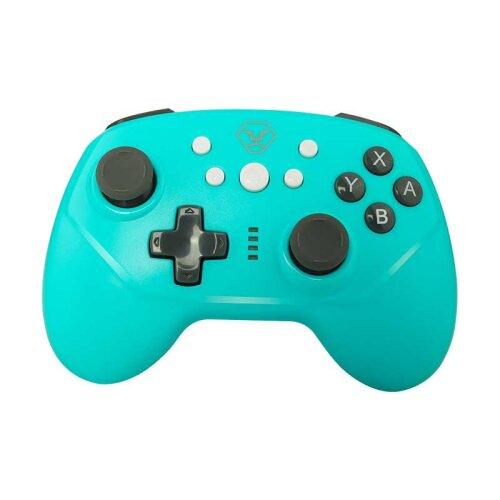 (Blue) Bluetooth Wireless Gamepad Joystick Controller for Nintendo Switch Pro Console, Support Somatosensory Vibration Screenshot Axis