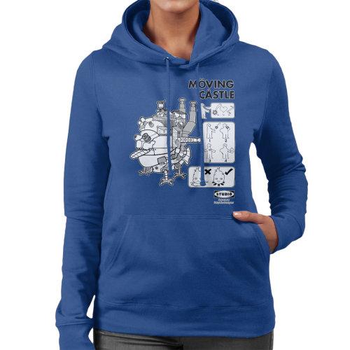 Studio Ghibli Ikea Howls Moving Castle Women's Hooded Sweatshirt