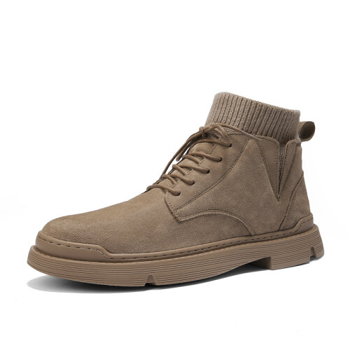 (6 (Adults')) Boots Men Winter Warm Ankle Boots