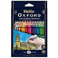 Helix Oxford Colouring Pencils (Pack of 36) Bright Colours, Resistant