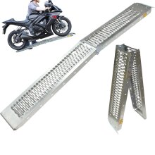 Black Pro Range B5249 Folding Steel Motorcycle Loading Ramp