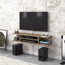 Decorotika Pivot Floating TV Stand Cabinet TV Unit Multimedia Storage Shelf Wall Mount Entertainment Unit