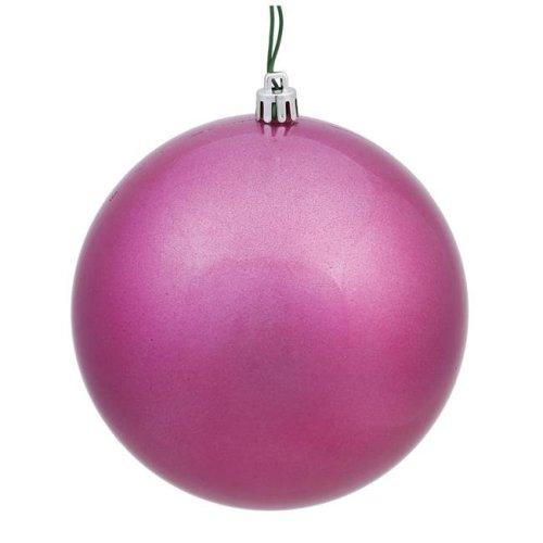 Mauve Candy UV Drilled Ball Ornament, 4.75 in. - 4 per Bag