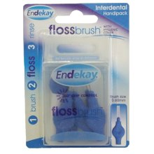 Endekay Floss Brush Interdental HandiPack - Blue 0.60mm
