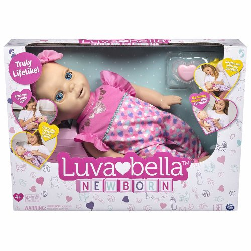 Luvabella Newborn Interactive Baby Doll - Blonde