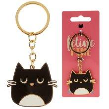 Fun Collectable Feline Fine Cat Enamel Keyring