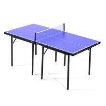 HOMCOM Folding Mini Table Tennis Portable Ping Pong Set Games Play Sport w/ Net