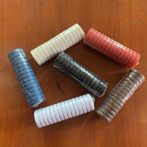 New Backgammon Dice Blank Glossy Chips / Crypto Coins / Light
