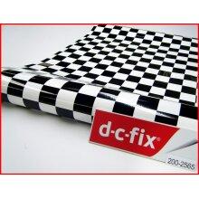Black White Chequered Contact Paper 100cm x45cm Self Adhesive Vinyl 2565