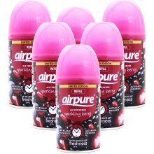 airpure 6 X FRESHMATIC AUTOMATIC SPRAY REFILLS 250ML SPARKLING BERRY AIRWICK COMPATIBLE, Pack of 6