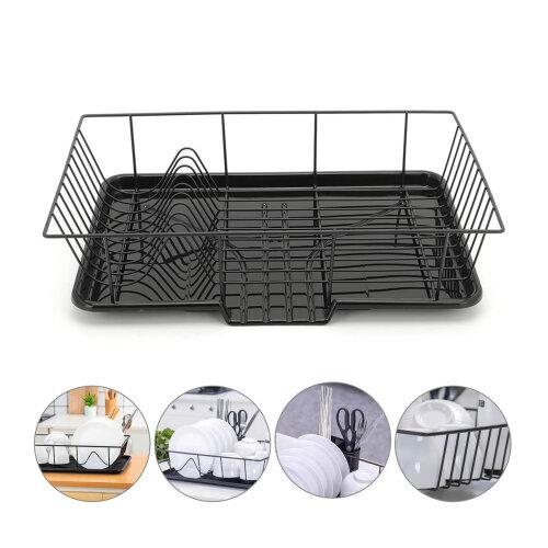 Metal Dish Drainer  Cutlery Draining Holder Plate Rack Kitchen Sink