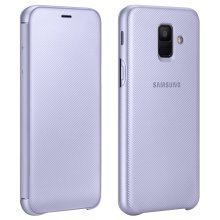 Official Samsung Flip Wallet Cover EF-WA600 case for Samsung Galaxy A6 - Purple
