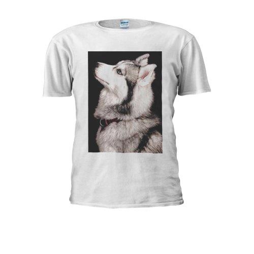 Siberian Wolf Esthetic Tumblr Husky Men Women Unisex Top T Shirt