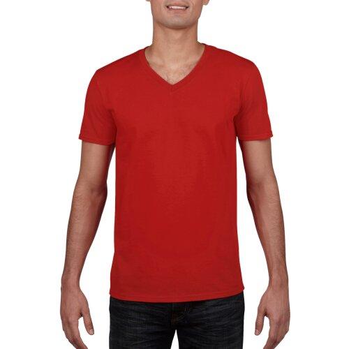Red  Softstyle V-neck T-shirt Gildan Size M