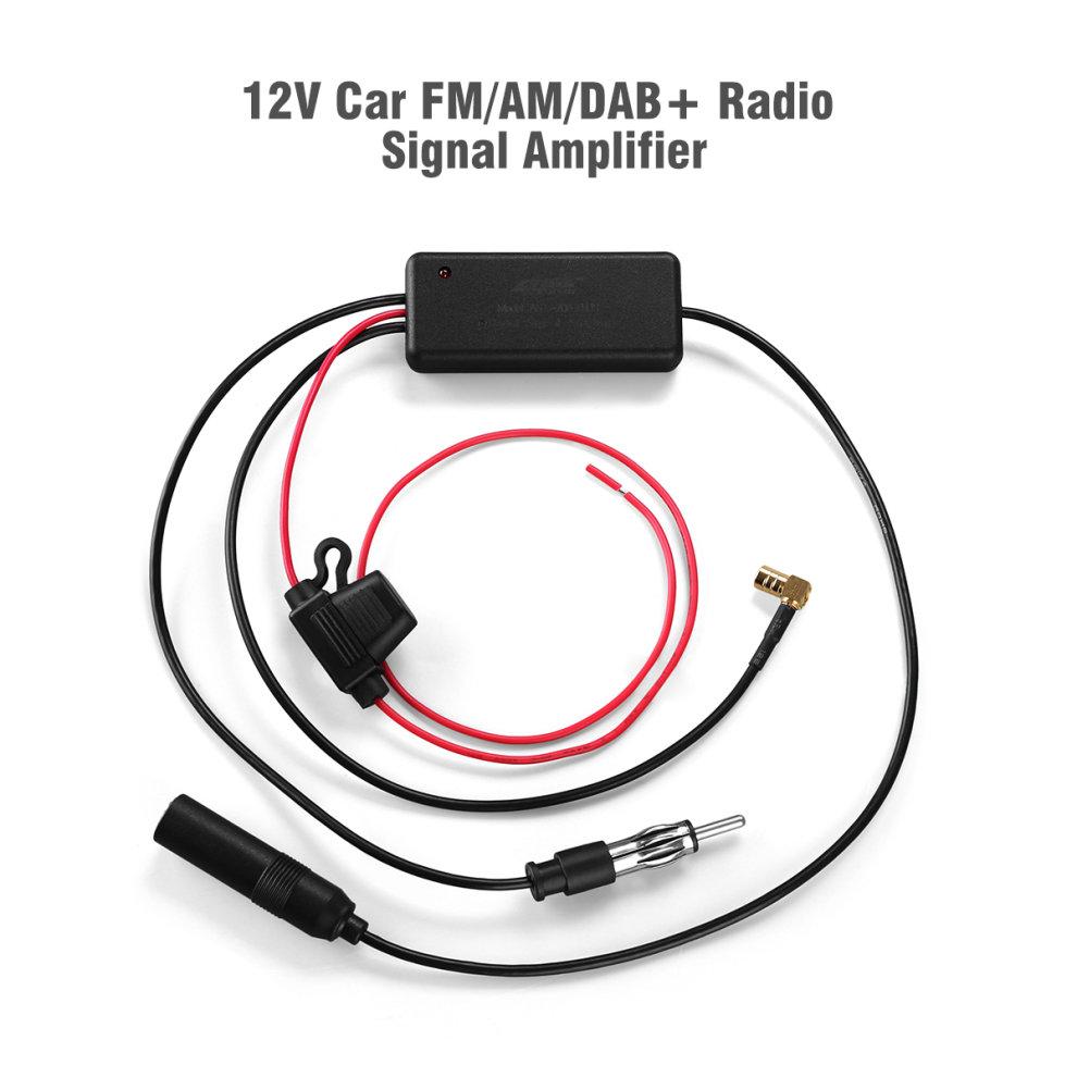 12V AM FM DAB+ Car Stereo Radio Signal