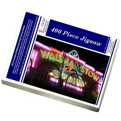 (Jigsaw Puzzle (400 Pieces)) Neon Frontage at Walthamstow Dog Racing Stadium (Jigsaw Puzzle)