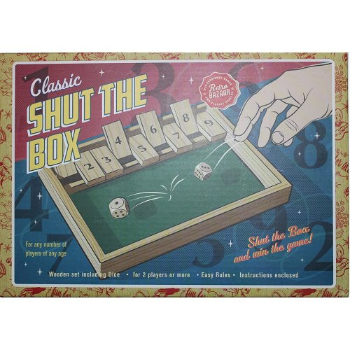 Retro Bazaar Classic Shut The Box Wooden Dice Game For Any Number Of Players