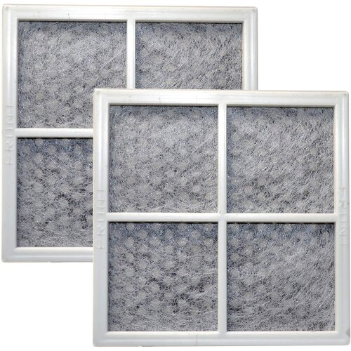 HQRP 2-pack Fresh Air Filter for LG Refrigerators LT120F / ADQ73214404 / ADQ73334008 / ADQ73334003 Replacement + HQRP Coaster