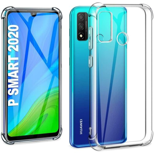 For Huawei P Smart 2020 Bumper Crystal Clear TPU GEL Shockproof Case Cover