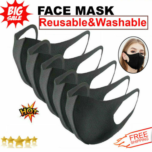(Adult 100 PCS) Reusable Face Mask Cover Washable Breathable Dust Protective Mask