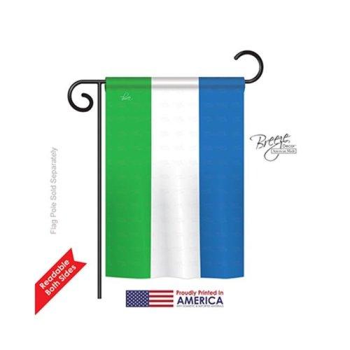 Breeze Decor 58306 Sierra Leone 2-Sided Impression Garden Flag - 13 x 18.5 in.