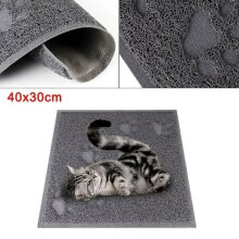 40x30cm Cat Litter Tray Mat Clean Floor Pet Box Pan Hooded Litter Mat