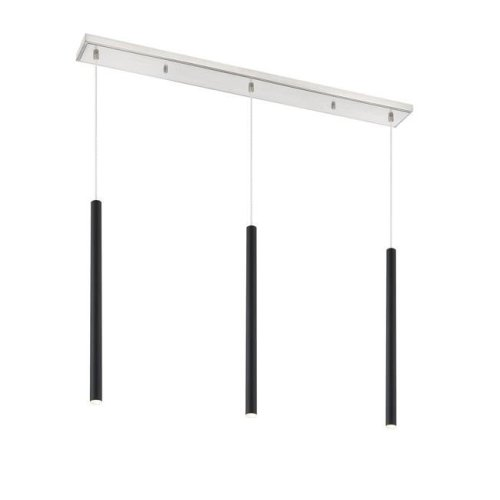 Z-Lite 917MP24-MB-LED-3LBN Forest Modern 3 Light Island & Billiard - Matte Black