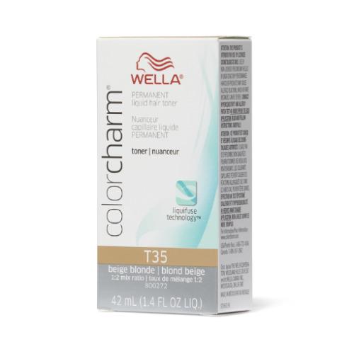 (T35 Beige Blonde) Wella Color Charm Permanent Liquid Hair Toner - Blondes