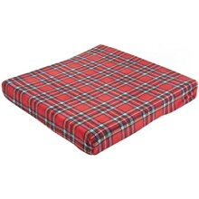 Ability Superstore Red Royal Stewart Cushion with Blanket Set