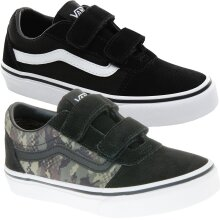 Vans Kids Boys Ward V Hook & Loop Suede Canvas Trainers Sneakers Shoes