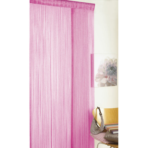 Country Club String Door Curtain, Glitter Pink