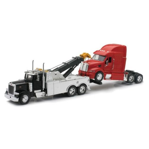 New-Ray Toys SS-12053 Peterbilt Tow Truck With Cab